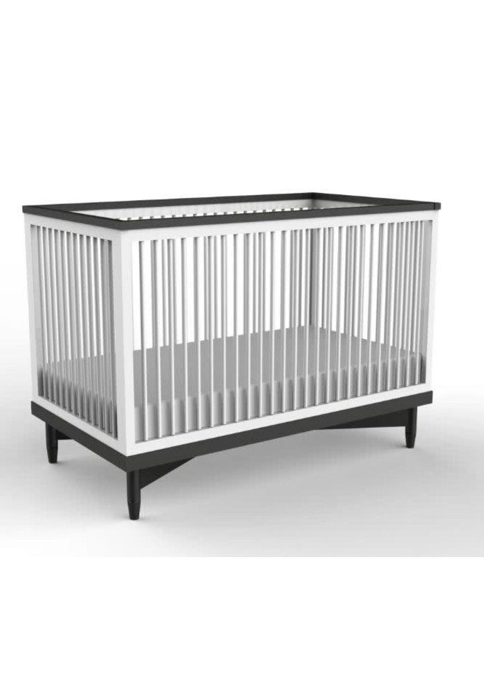 Duc Duc Soho Crib In White/Onyx