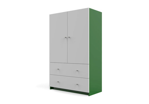 Duc Duc Duc Duc Aj II Armoire In Kelly Green/White