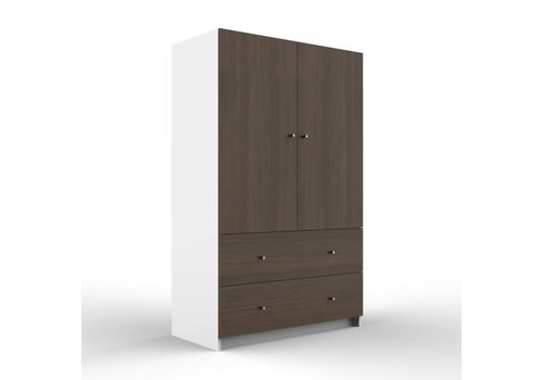 Duc Duc Duc Duc Aj II Armoire In White/Stained Walnut
