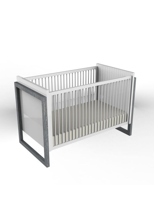 Duc Duc Duc Duc Campaign II Crib In Dark Grey Cerused