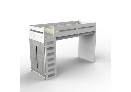Duc Duc Duc Duc Alex Loft Bed In White/Weathered