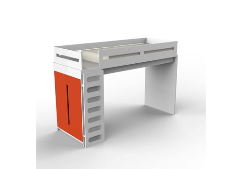 Duc Duc Duc Duc Alex Loft Bed In White/Orange