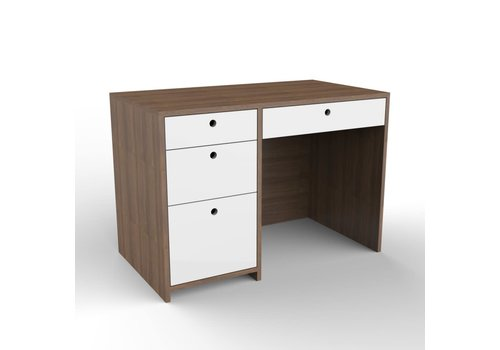 Duc Duc Duc Duc Alex Desk In Natural Walnut/White