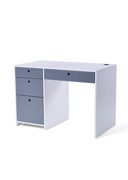 Duc Duc Duc Duc Alex Desk In White/Dark Gray