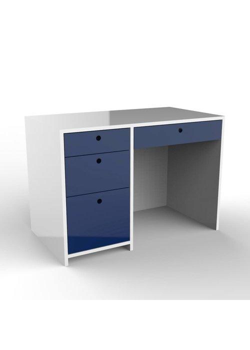 Duc Duc Duc Duc Alex Desk In White/Royal Blue