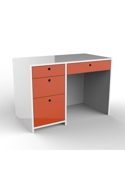Duc Duc Duc Duc Alex Desk In White/Orange