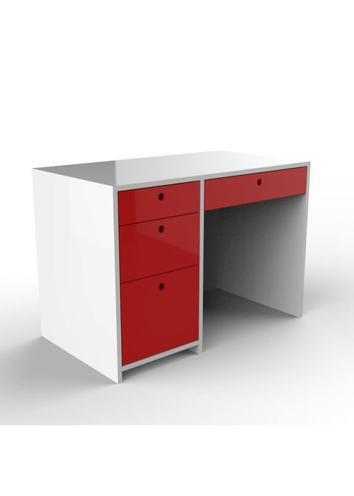 Duc Duc Duc Duc Alex Desk In White/Red