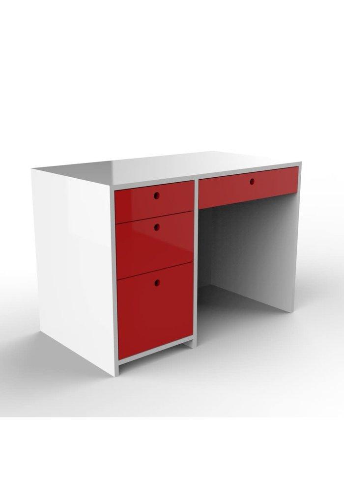 Duc Duc Alex Desk In White/Red