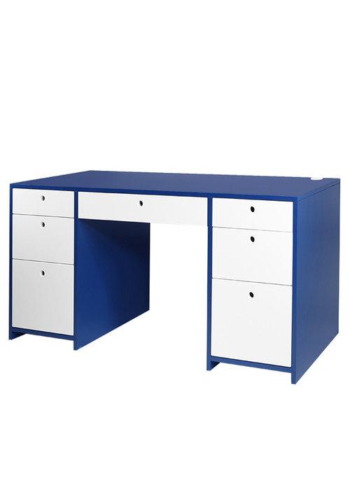 Duc Duc Duc Duc Alex Doublewide Desk In Downpour Blue/China White