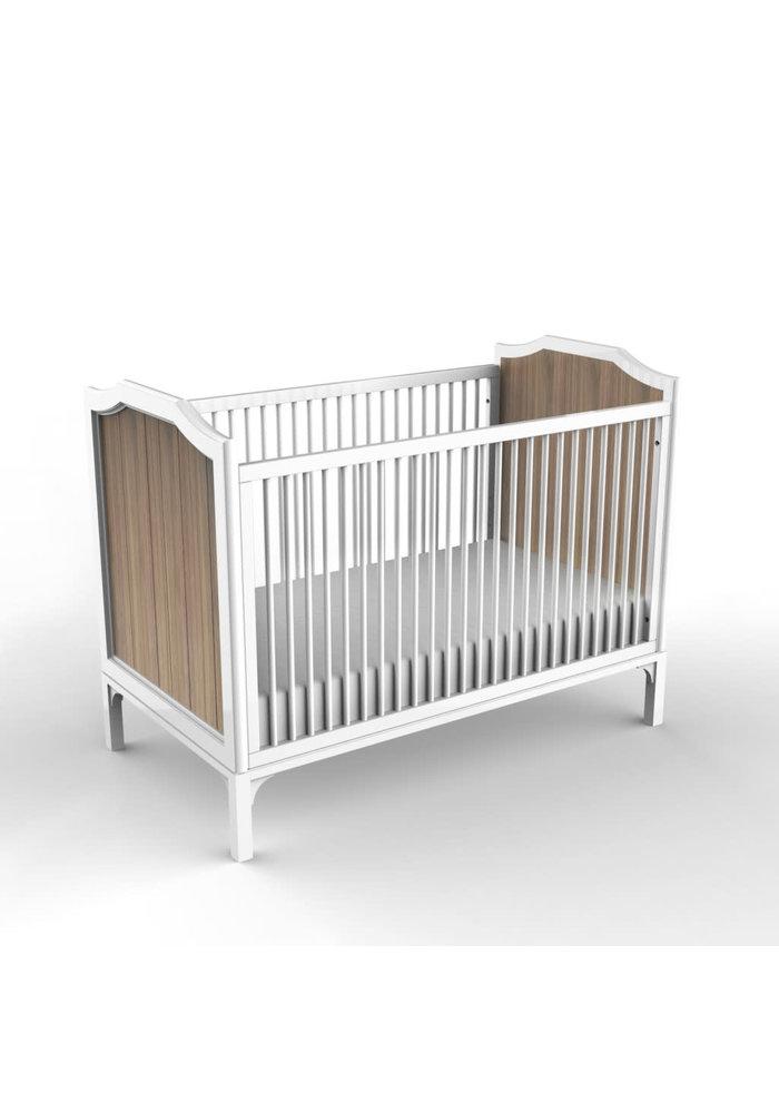 Duc Duc Stonington Crib In White/Bleached Walnut