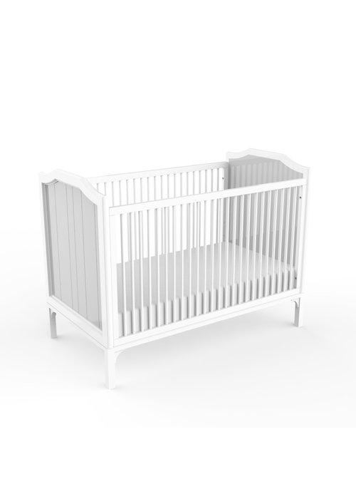 Duc Duc Duc Duc Stonington Crib In White/Light Gray