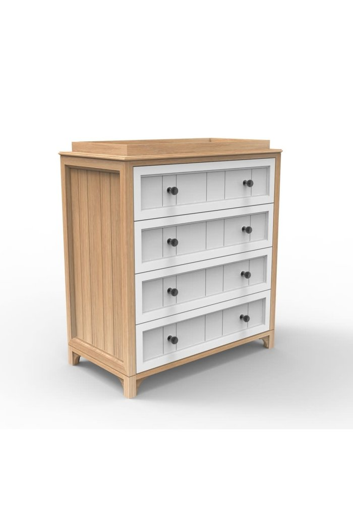 Duc Duc Stonington 4 Drawer Changer In Natural Oak/White