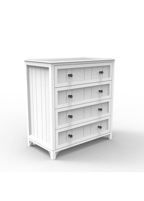 Duc Duc Duc Duc Stonington 4 Drawer Dresser In White