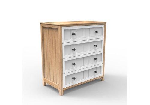Duc Duc Duc Duc Stonington 4 Drawer Dresser In Natural Oak/White