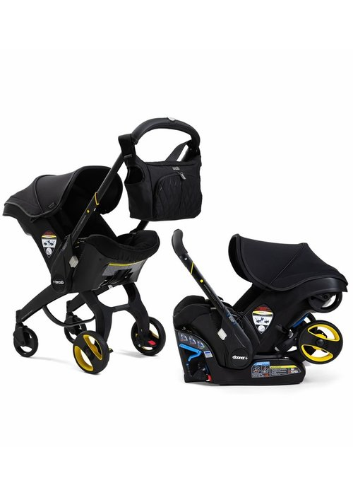 Doona Doona Infant Car Seat - Stroller With Infant Car Seat Base Just Black (Midnight)
