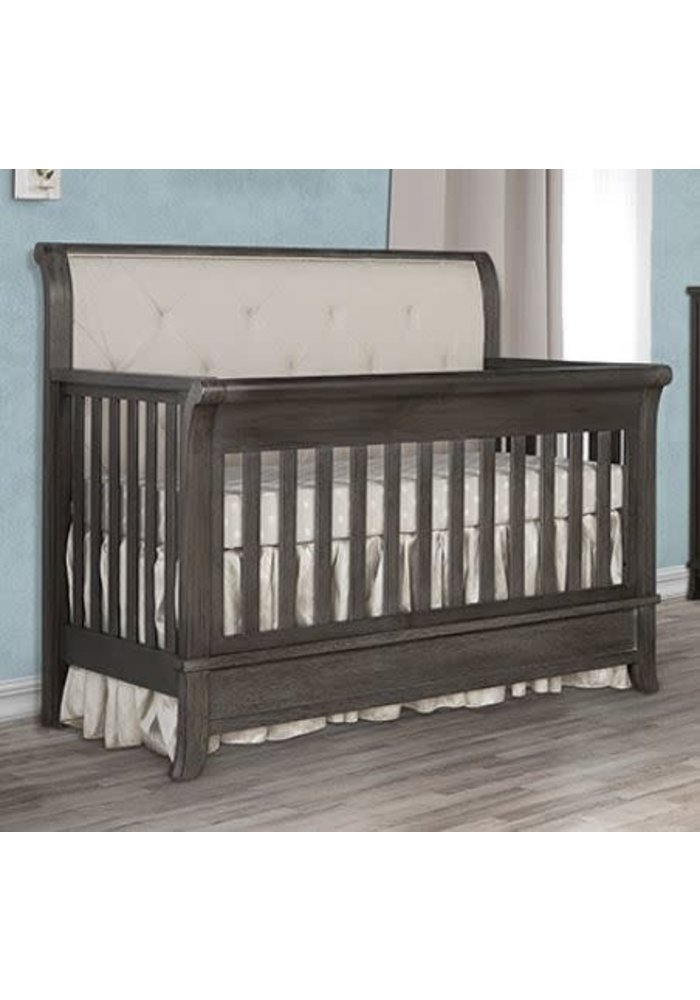 Evolur Baby Amsterdam 5-in-1 Convertible Crib In Smokey Brushed Grey