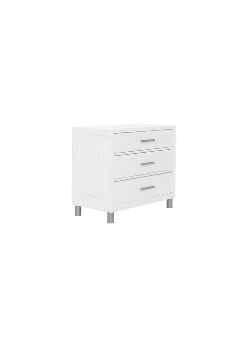 Evolur Baby Art Deco 3 Drawer Dresser In White