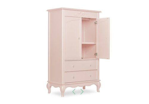 Evolur Baby Aurora Armoire In Blushed Pink