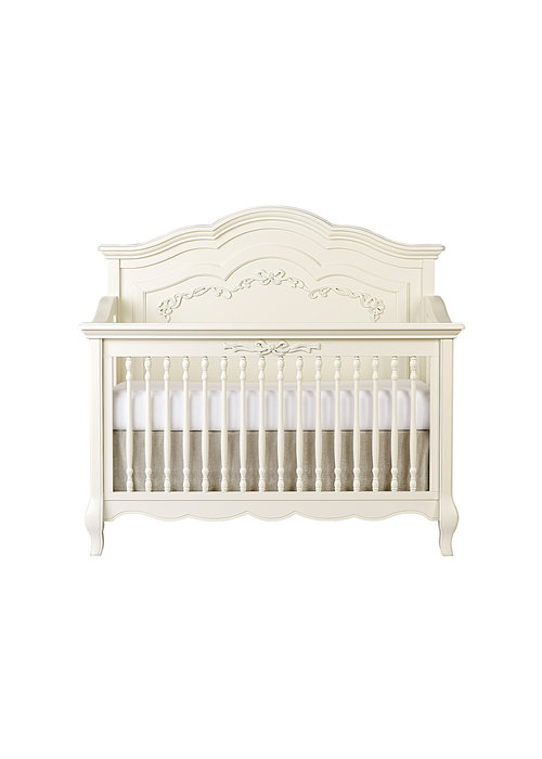 Evolur Baby Aurora 5 In 1 Convertible Crib In Ivory Lace