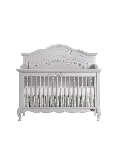 Evolur Baby Aurora 5 In 1 Convertible Crib Akoya Grey Pearl /Silver Mist