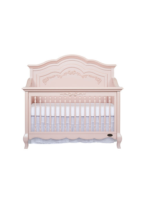 Evolur Baby Aurora 5 In 1 Convertible Crib In Blushed Pink