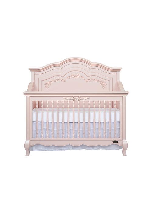 Evolur Baby Evolur Baby Aurora 5 In 1 Convertible Crib In Blushed Pink