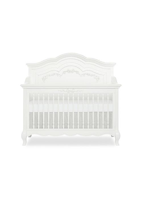 Evolur Baby Aurora 5 In 1 Convertible Crib In Frost White