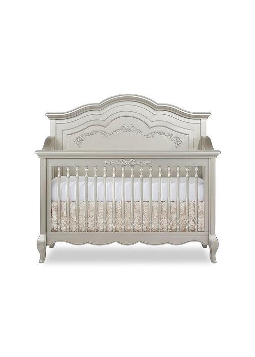 Evolur Baby Aurora 5 In 1 Convertible Crib In Metallic Gold Dust