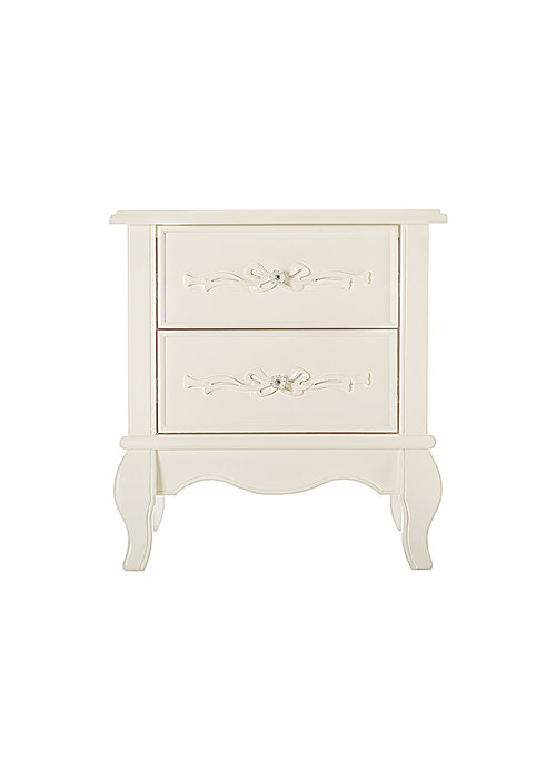 Evolur Baby Aurora Night Stand In Ivory Lace