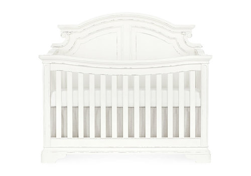 Evolur Baby Belle 5-in-1 Convertible Crib In Aged White