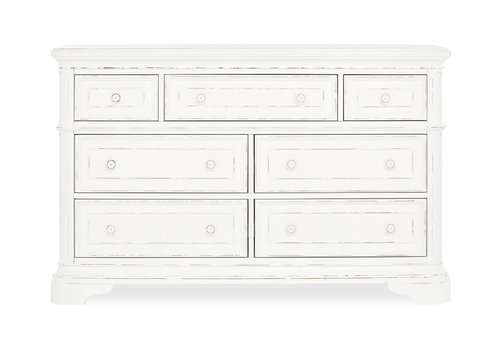Evolur Baby Belle Double Dresser In Aged White
