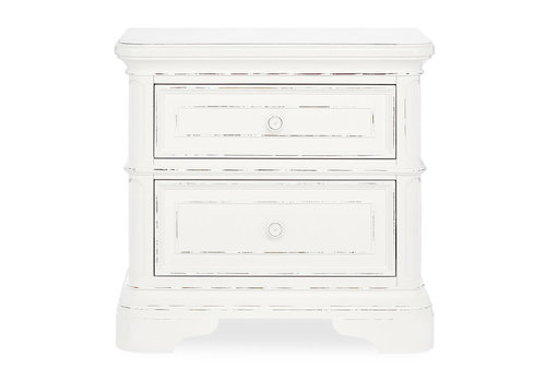 Evolur Baby Belle Night Stand In Aged White