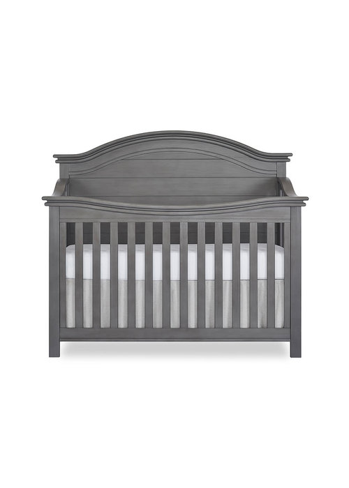 Evolur Baby Belmar (Curved Top) 5-in-1 Convertible Crib In Rustic Grey
