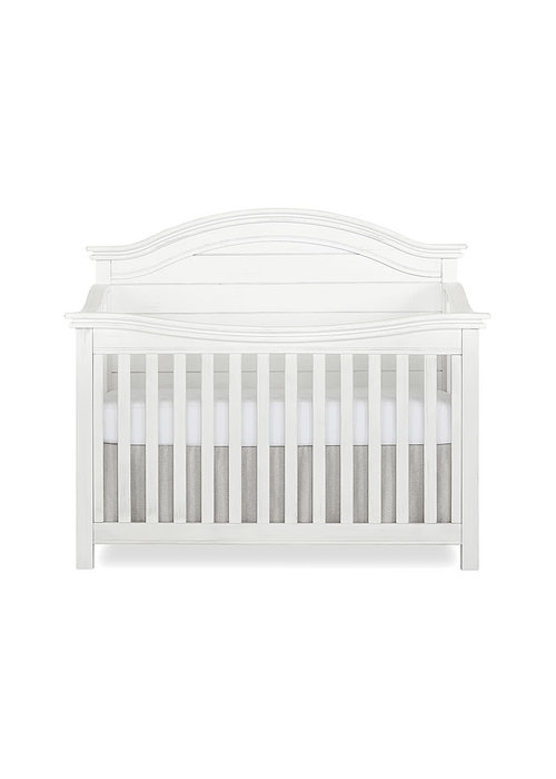 Evolur Baby Belmar (Curved Top) 5-in-1 Convertible Crib In Weathered White
