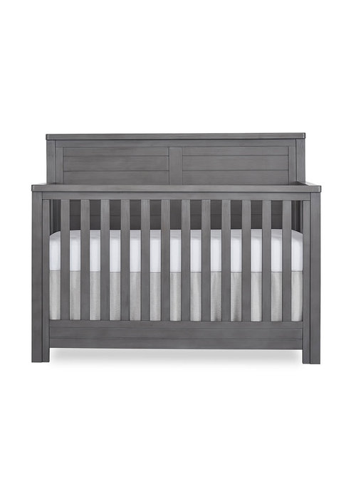 Evolur Baby Belmar (Flat Top) 5-in-1 Convertible Crib In Rustic Grey