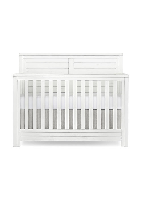 Evolur Baby Belmar (Flat Top) 5-in-1 Convertible Crib In Weathered White