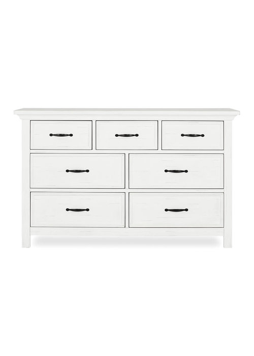 Evolur Baby Belmar Double Dresser In Weathered White