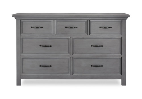 Evolur Baby Belmar Double Dresser In Rustic Grey