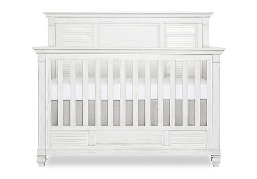Evolur Baby Cape May 5-in-1 Convertible Crib In Weathered White