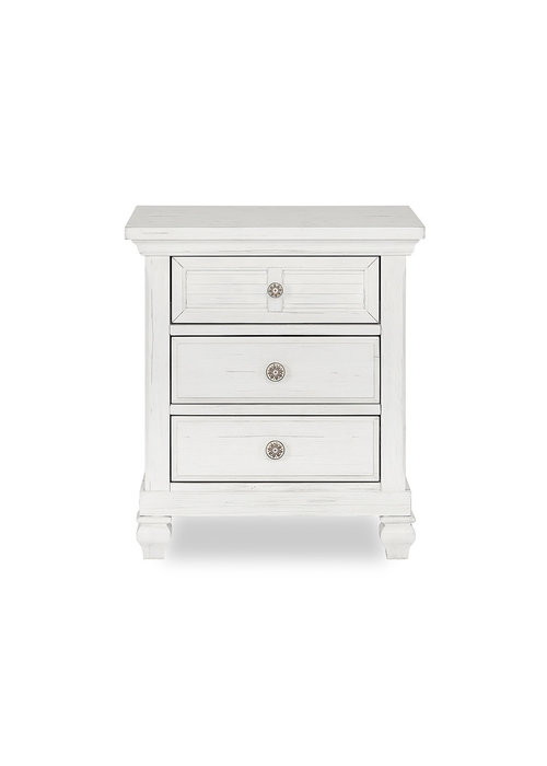 Evolur Baby Cape May Night Stand In Weathered White