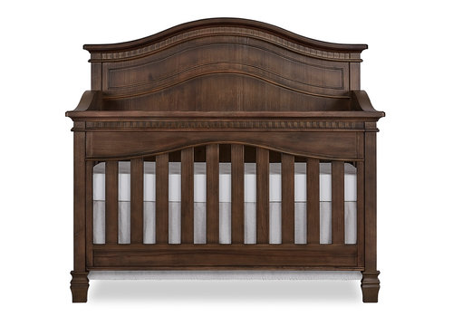 Evolur Baby Cheyenne 5-in-1 Full Panel Convertible Crib In Antique Brown