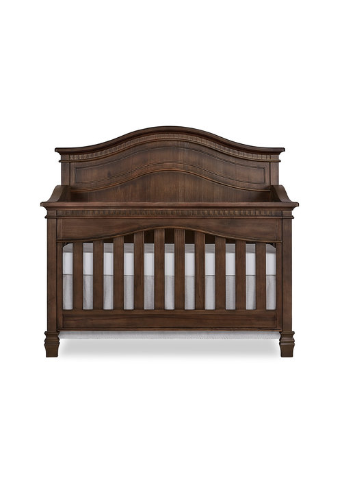 Evolur Baby Cheyenne 5-in-1 Full Panel Convertible Crib In Antique Brown