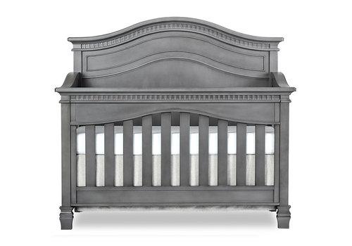 Evolur Baby Cheyenne 5-in-1 Full Panel Convertible Crib In Storm Grey/Steel Grey