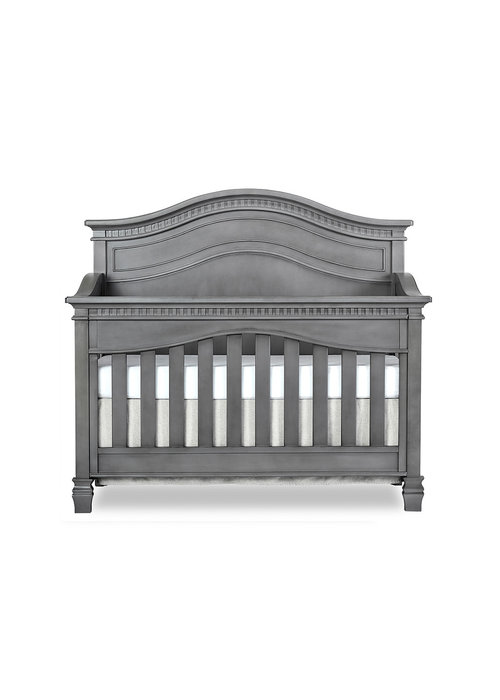 Evolur Baby Cheyenne 5-in-1 Full Panel Convertible Crib In Storm Grey/Steel Grey