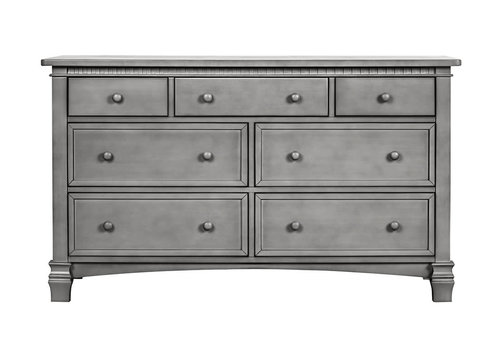 Evolur Baby Cheyenne Double Dresser In Storm Grey/Steel Grey