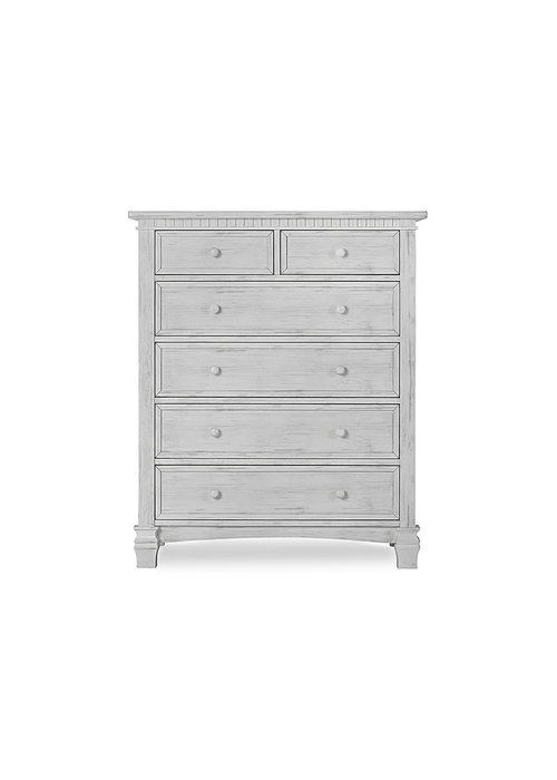 Evolur Baby Cheyenne 5 Drawer Tall Chest In Antique Mist