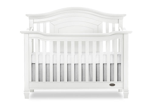 Evolur Baby Fairbanks 5-in-1 Convertible Crib In Winter White/White