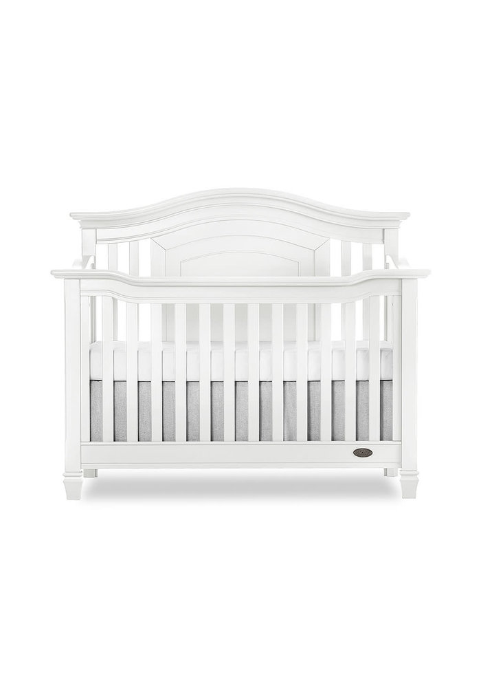 Evolur Baby Fairbanks 5-in-1 Convertible Crib In Winter White/White