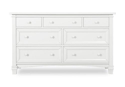 Evolur Baby Fairbanks Double Dresser In Winter White/White