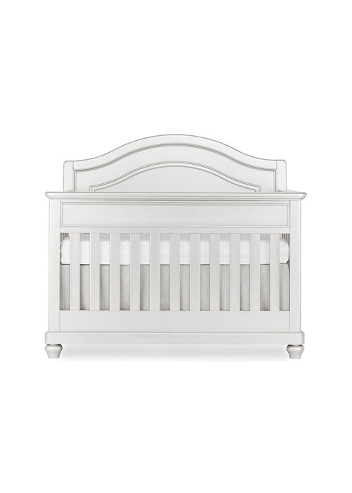 Evolur Baby Glam 5-in-1 Convertible Crib In Silver Pearl Shimmer